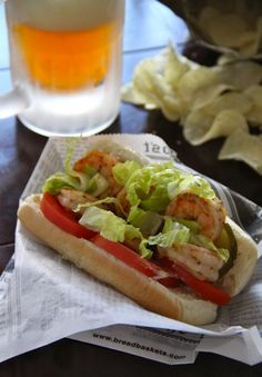 Pale Ale Shrimp Po'Boys for #BeerWeek by Lauren of Climbing Grier Mountain