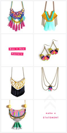 Images from Boo + Boo Factory // layout graphics from The Lovely Drawer I fell hard for this stunning jewellery a few weeks ago! Talk about statement jewellery...this definitely is that. Christina ...