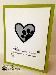 It's Tuesday and time for another wonderful color combination from ColourQ . Dog Cards Handmade, Sympathy Card Sayings, Sorry Cards, Cat Cards, Get Well Cards, Animal Cards, Paper Cards, Making Ideas, Card Designs