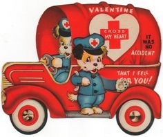 """Cross my heart/no accident * 1500 free paper dolls at Arielle Gabriel's The International Paper Doll Society also at The China Adventure of Arielle Gabriel free paper dolls * Valentine Images, My Funny Valentine, Vintage Valentine Cards, Vintage Greeting Cards, Vintage Holiday, Valentine Day Cards, Happy Valentines Day, Diy Valentine, Vintage Ephemera"