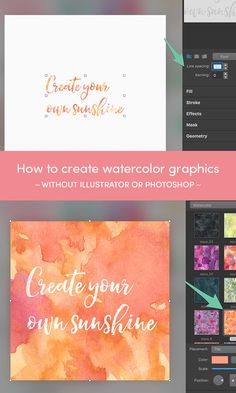 On the Creative Market Blog - How to Create Watercolor Social Media Graphics — No Illustrator Needed