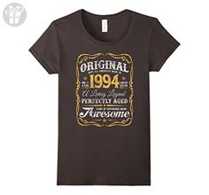 Womens Vintage Original Legends Made In 1994 T-Shirt 23rd Birthday Small Asphalt - Birthday shirts (*Amazon Partner-Link)
