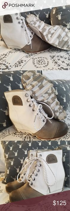 4e6031b1d9ef Sorel 1964 Premium Wedge Bootie in Sea Salt Sorel wedge bootie