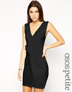 Dress exclusive to the ASOS PETITE collection 95% Viscose, 5% Elastane Soft jersey V-neckline Twisted wrap front Close cut body-conscious fit Our model wears a UK 8/EU 36/US 4 Machine wash ABOUT ASOS PETITE ASOS PETITE brings forth a trend-led collection specifically designed to fit women of 5'3/1.60m and under.