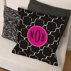 Personalized Monogram Madness Throw Pillow