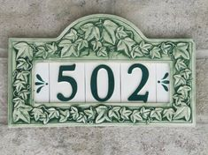 Custom Hand Painted Ceramic House Number Tile by CgullCeramics, $75.00