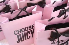 Juicy Couture shopping bags