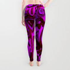 Magenta symbols Leggings by ludodesign | Society6