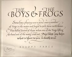 Aesop's Fable, Italic script, Awagami paper Chris Jordan, Cover Pics, Script, Quotations, Calligraphy, Lettering, Paper, Script Typeface, Drawing Letters