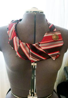 Fantastic use for old silk ties! DIY instructions!
