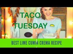 recette crème lime et cumin, Taco Tuesday - YouTube