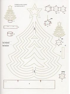 present for christmas: paper christmas tree tutorial - crafts ideas - crafts for kids (Christmas Tree Paper) Christmas Paper, Kids Christmas, Vintage Christmas, Christmas Crafts, Christmas Decorations, Christmas Ornaments, Christmas Tree Illustration, Pop Up, Craft Presents
