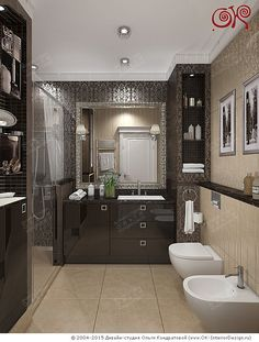 Дизайн ванной комнаты с душевой кабиной  http://www.ok-interiordesign.ru/blog/dizayn-vannoy-komnaty-pravila-planirovki.html