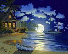 """South Seas Paradise"" by JOHN AL HOGUE."