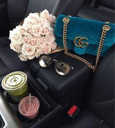 Gucci Marmont Velvet Mini Bag Teal