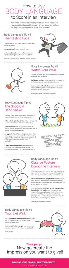 How to use body language in a job interview #JobSearch #Success #BodyLanguage