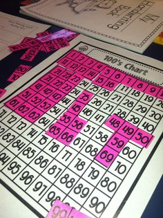 A day in first grade: 100's chart math fun