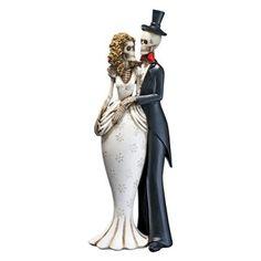 Design Toscano 10 in. Day of the Dead Skeleton Bride & Groom Statue
