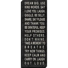Inspirational Canvas 38-in W x 14-in H