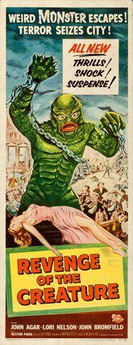 "Movie Posters:Horror, Revenge of the Creature (Universal International, 1955). Insert(14"" X 36"").. ..."