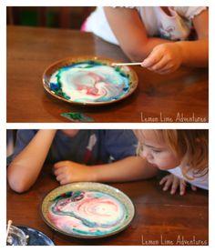 Magic Milk Experiment for preschool