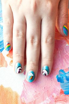 Comic-Con Nail Art Designs - 5 Comic-Con-Inspired Nail Art Looks - ELLE My little pony nails