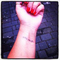Blood Group Tattoo 0Rh neg D-