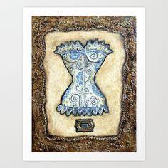 Vintage Impressions * Corset I Art Print by Artistic Environments - $24.96