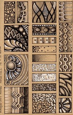 zentangle tile template - 1000 images about doodle elements on pinterest