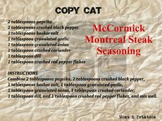 McCormick Montreal Steak Seasoning