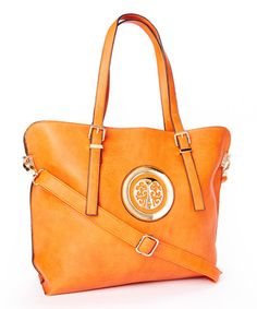 Another great find on #zulily! Orange Pruce Large Medallion Tote by MKF Collection #zulilyfinds