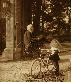 Father Time wants your wheels (c. 1900)