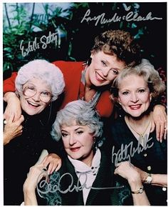 The Golden Girls Authentic Cast Signed 8x10 Autograph Photo - Bea Arthur, Betty White, Rue McClanahan, Estelle Getty