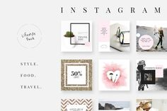 Bring your creative projects to life with over 3 million unique fonts, graphics, themes, photos, and templates designed by independent creators around the world. Social Media Plattformen, Social Media Template, Social Media Design, Instagram Lifestyle, 2 Instagram, Instagram Layouts, Instagram Design, Instagram Fashion, Instagram Post Template