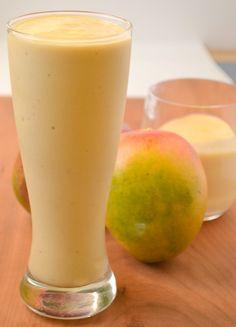 Tropical mango smoothie #drinks #fruit #mango #banana #pineapple