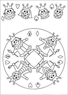 Desenhos para colorir para crianças. Desenhos para imprimir e colorir Mandalas 13