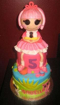 Lalaloopsy. Doll is edible! Tons of stiching and buttons around the cake. Click on it if you want to see a different view on Cakecentral!  | followpics.co