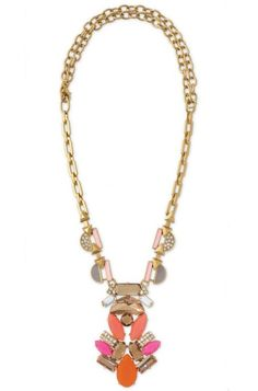 Stella Dot's Pop Geo Pendant Necklace can be worn short or long for everyday versatility to any outfit!