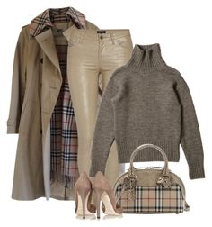 """""""Burberry Finish"""" by lisa-holt ❤ liked on Polyvore featuring Burberry, Morgan and Jimmy Choo"""