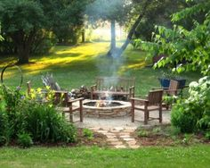 firepit bottom yard - That is so inviting!