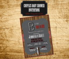 BBQ Baby Shower Party Invitation, Couples Baby Shower Invite, Dad-to-Be, Baby BBQ Beer Diapers, Printable Digital by Little Party that Could by LittlePartythatCould on Etsy