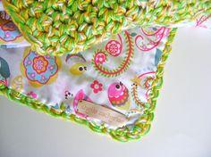 PATTERN SALE Crocheted Reversible Baby Blanket