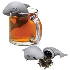 A more creative way to drink your favorite tea, using your favorite herbs with this Shark Tea Infuser! #Shark #Herbs #Infuser #Strainer #Cool #Novelty #Creative #Cute #Kitchen #Tea #Drink #TrillionChoicesShop