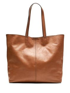 Banana Republic Cognac Slouchy Leather Tote