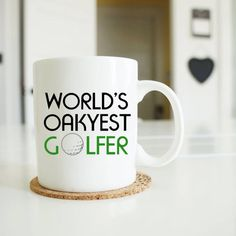 "fathers day gift golf ""world's okayest golfer"", golf gifts for men, golf gifts, golf mug, golfer's mug, gifts for dad, father gift, MU131 by artRuss on Etsy"