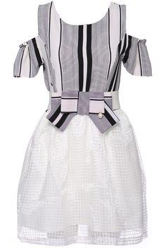 dc21f0c4d41 ROMWE Striped Print Off-shoulder Blue Dress 23.90 Chic Dress, Dress P,  Latest