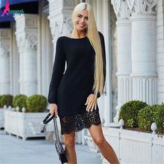 218682cdd7 Turmec » black and white long sleeve midi bodycon dress Vestido Smart  Casual