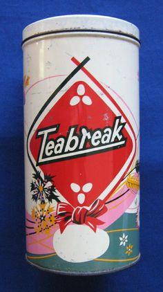 """""""Teabreak"""" biscuit tin, c.1950s (SOLD) - www.vanishederas.com"""
