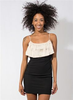 Black and Blush Bodycon Dress #BodyCon #WrapDress #TightDress #MiniDress #Ruffle #Stitching #LightPink #LBD #BlackDress #NewYearsEve #Holidays #Style #Fashion #Downtown #Wholesale #StylishWholesale