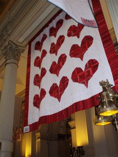 """""""Heart Log Cabin"""" Pattern - Quilters Club of America"""